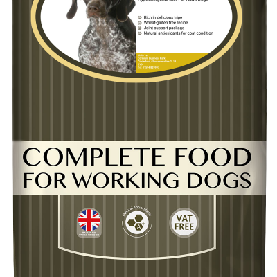 High-quality trip dog food, with high protein for working dogs chosen by us for its great value bag