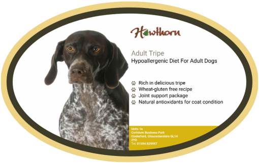 High-quality trip dog food, with high protein for working dogs chosen by us for its great value label