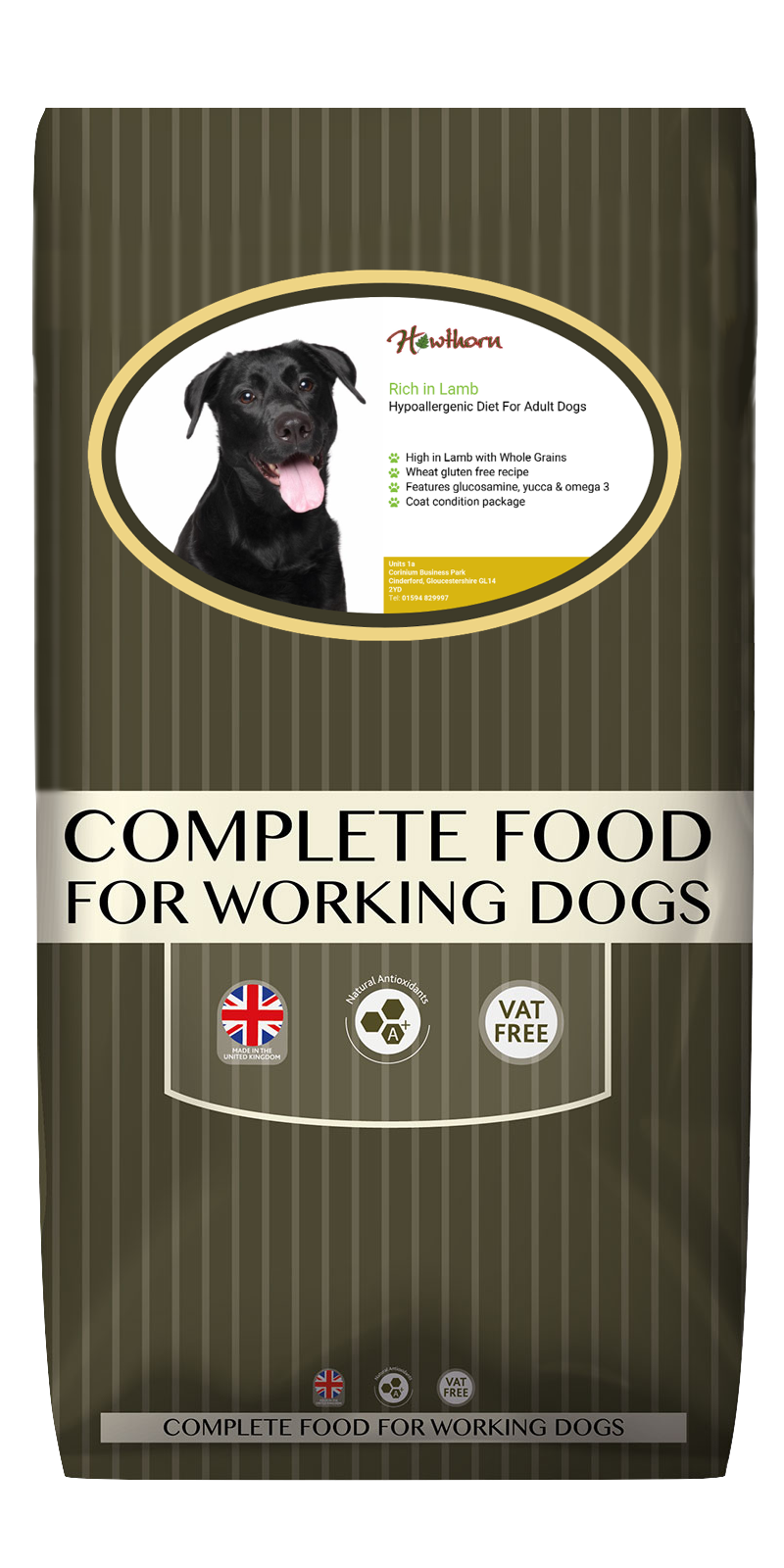 High-quality lamb dog food, with high protein for working dogs chosen by us for its great value bag
