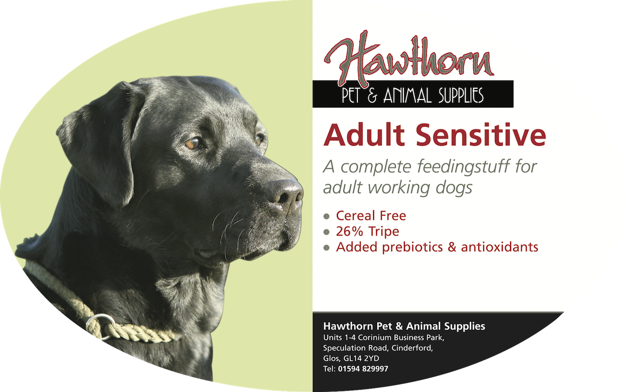 own label super premium hawthorn pet food supplies animal feed local cinderford dog Super Premium Sensitive Dog Food - Adult - Hawthorn