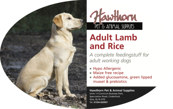 own label super premium hawthorn pet food supplies animal feed local cinderford dog Super Premium Lamb And Rice Adult Dog Food - Hawthorn
