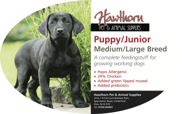 own label super premium hawthorn pet food supplies animal feed local cinderford dog Super Premium Puppy Large/Medium Breed - Hawthorn