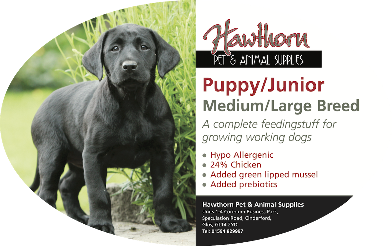 own label super premium hawthorn pet food supplies animal feed local cinderford dog Super Premium Puppy Large/Medium Breed - Hawthorn