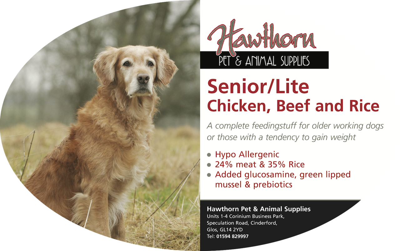 Super Premium Senior/Light Dog Food With Chicken, Beef and Rice own label super premium hawthorn pet food supplies animal feed local cinderford dog