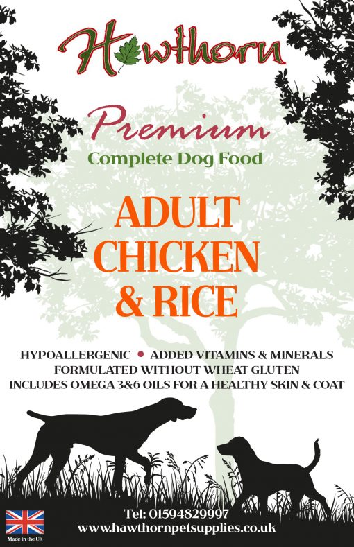 Hawthorn premium dog food hypoallergenic adult chicken rice dog food