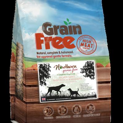 Grain free salmon trout dog food sweet potato asparagus hypoallergenic recipe no grains no gluten free sensitivity