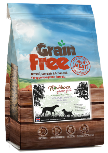 Grain free duck dog food hypoallergenic gluten free sweet potato