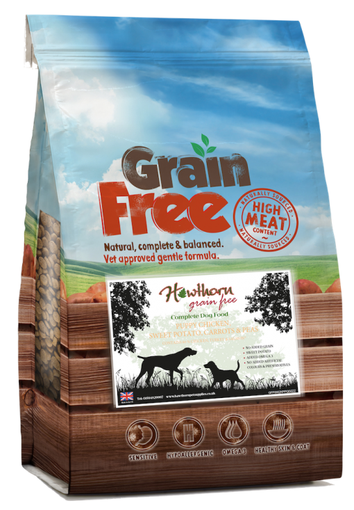 Grain Free Puppy dog food with chicken and sweet potato