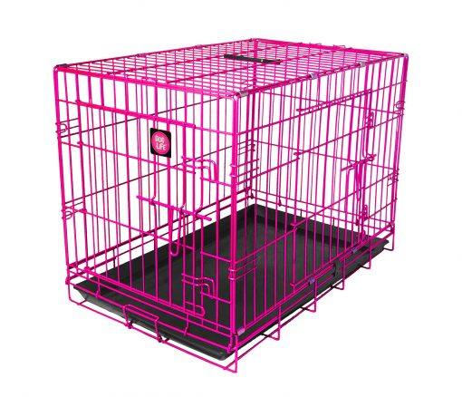 Pink Dog Crate High-quality, durable, colour dog crate which is easy to clean and assemble. Available in a variety of sizes and colours, perfect for any dog