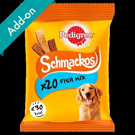Pedigree Schmackos Treats 20 stick pack fish mix