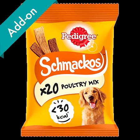 Pedigree Schmackos Treats 20 stick pack poultry mix