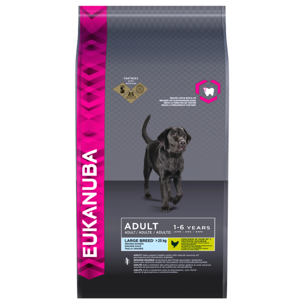 Eukanuba Adult Large Breed Chicken Bag Shot Front - Dog Food