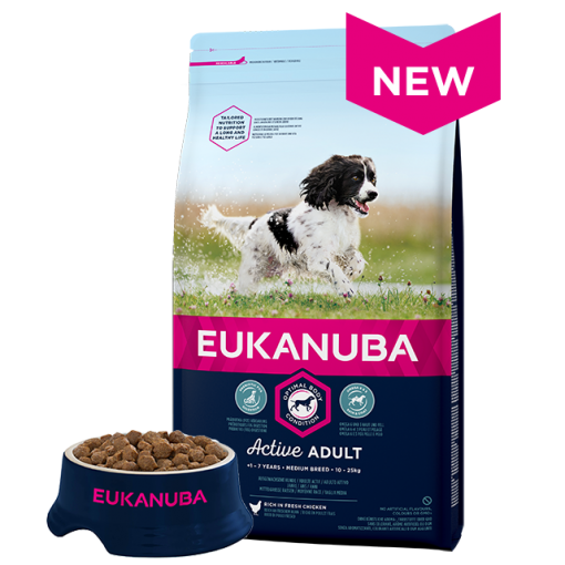 Eukanuba Adult Medium Breed Chicken Bag Shot Front - Dog Food