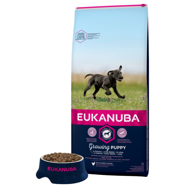 Eukanuba Puppy Large Breed Chicken Bag Shot Front - Dog Food