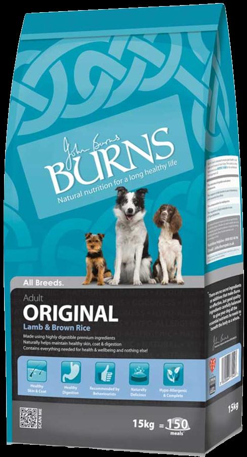 Burns Original Adult Dog Food Lamb and Brown Rice