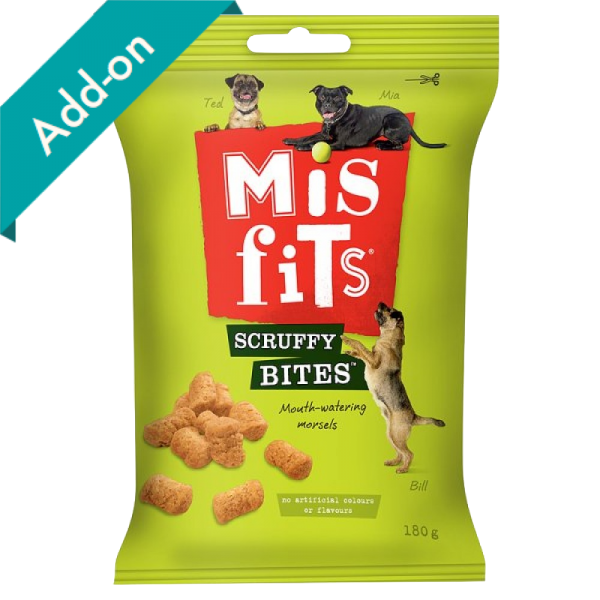 Misfits Scruffy Bites Dog Treats