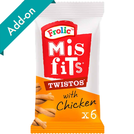misfits twistos dog treats 6 pack chicken