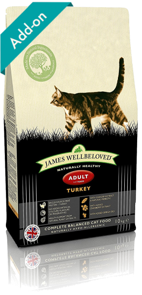 James Wellbeloved adult cat food turkey James Wellbeloved Turkey and Rice Dry Adult Cat Food - 10 kg