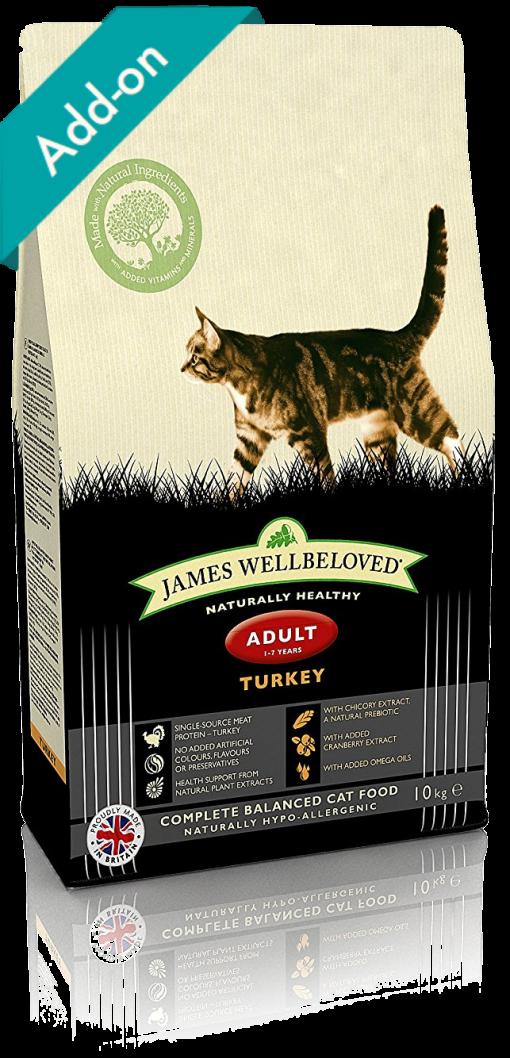 James Wellbeloved adult cat food turkey James Wellbeloved Turkey and Rice Dry Adult Cat Food - 10 kg