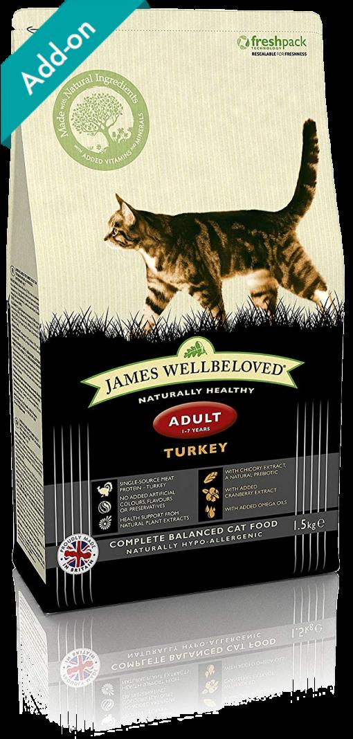 James Wellbeloved adult cat food turkey James Wellbeloved Turkey and Rice Dry Adult Cat Food - 1.5 kg