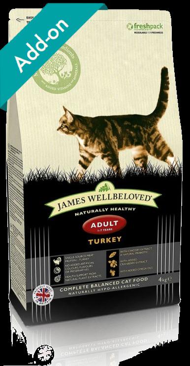James Wellbeloved adult cat food turkey James Wellbeloved Turkey and Rice Dry Adult Cat Food - 4kg
