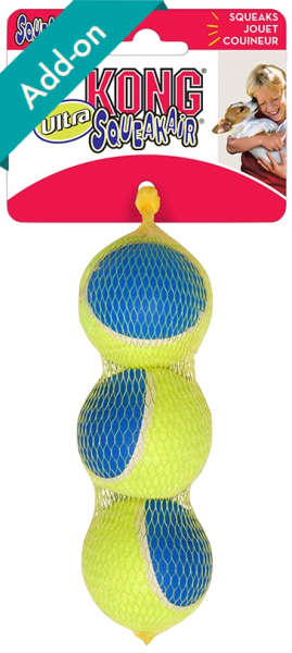 Kong ultra squeakier tennis balls medium 3 pack