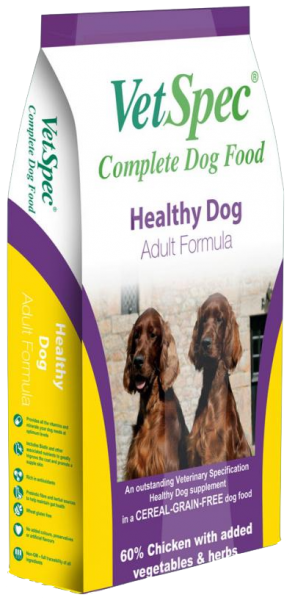 vetspec healthy dog adult dog food chicken grain free
