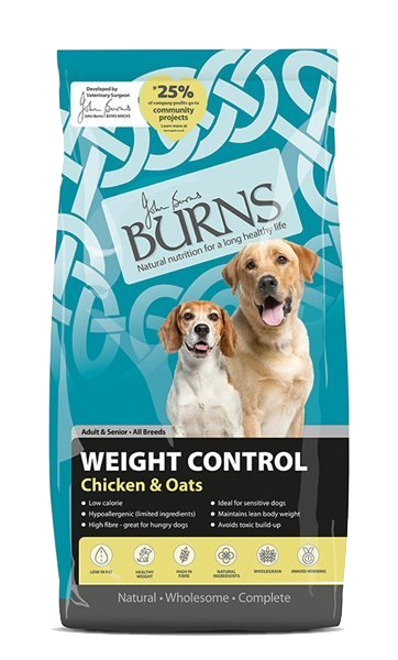 Burns Weight Control + Adult Dog Food Chicken and Oats