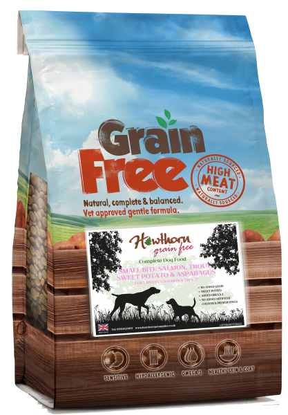 grain free small breed dog food salmon trout fish