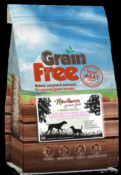 grain free small breed dog food salmon trout fish