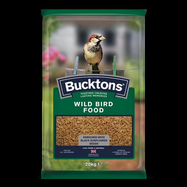 bucktons wild bird food bag shot - seed mix/blend for wild garden birds