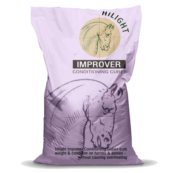 Hilight Improver Conditioning Cubes Bag Shot - hi protein, non-heating horse and pony conditioning cubes