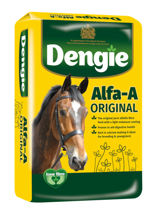 Dengie alfa-a original bag shot, fibre feed for horses and ponies