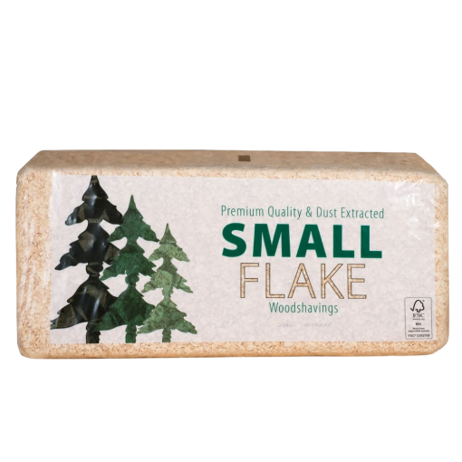 aw Jenkins small flake shavings bale shot - animal bedding for horses, ponies, poultry, rabbits, hamsters and other small animals