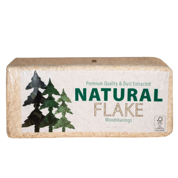 aw Jenkins natural flake shavings bale shot - animal bedding for horses, ponies, poultry, rabbits, hamsters and other small animals