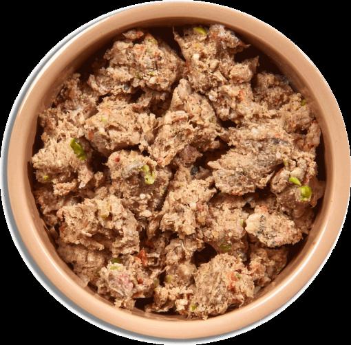 Natures Menu Original Frozen Adult Block meals chicken with tripe flavour food shot