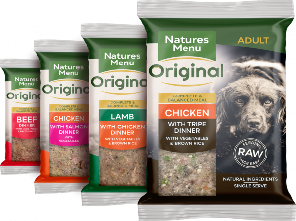 Natures Menu Original Frozen Adult Block meals multi pack flavour varieties pack shots