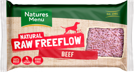Natures Menu Natural Raw Freeflow Beef pack shot