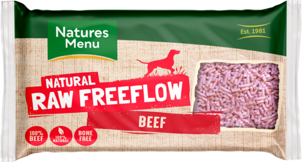 Natures Menu Natural Raw Freeflow Beef pack shot