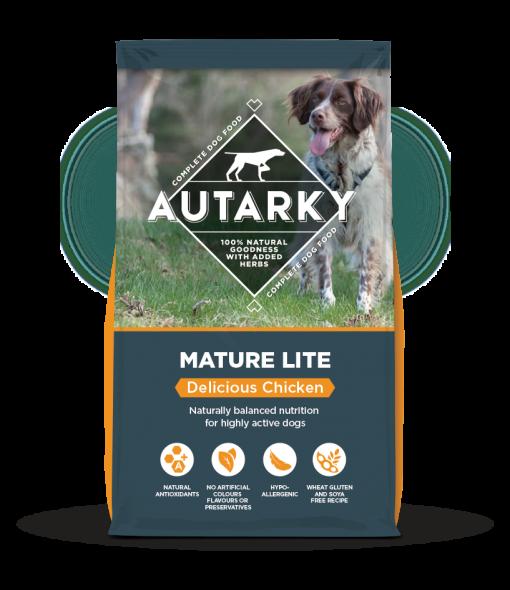 Autarky Mature Lite Chicken dog food bag shot