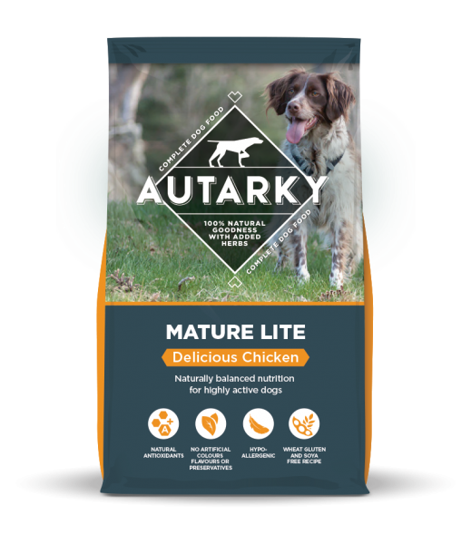 Autarky Mature Lite Chicken dog food bag shot