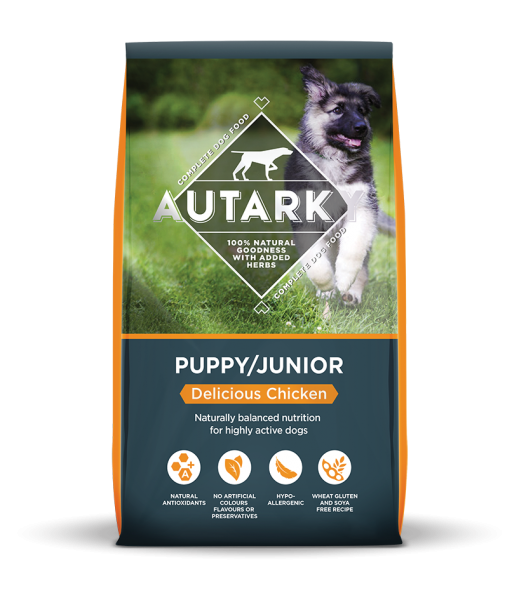 Autarky Puppy Chicken dog food bag shot