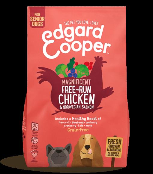 Edgard And Cooper Senior Free Run Chicken & Norwegian Salmon bag shot