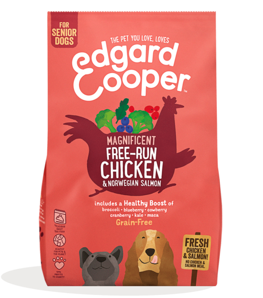 Edgard And Cooper Senior Free Run Chicken & Norwegian Salmon bag shot