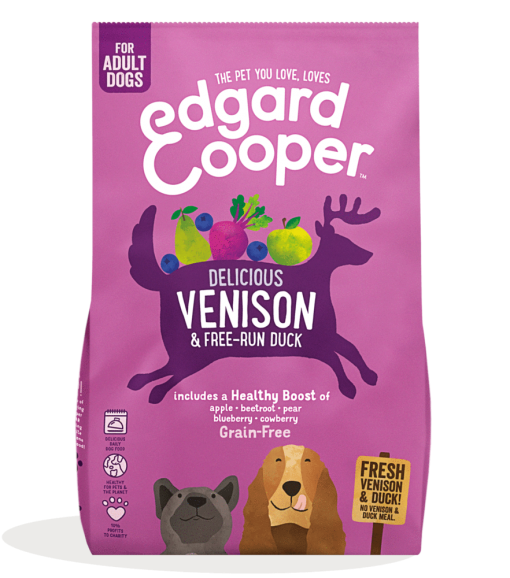 Edgard And Cooper Fresh Venison & Free run Duck Adult Dog Food bag shot