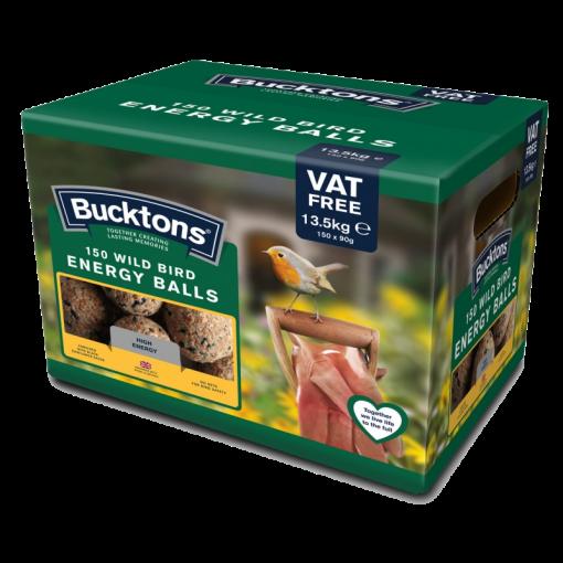 Wild Bird Energy Balls bucktons 150 fat balls product shot of the box