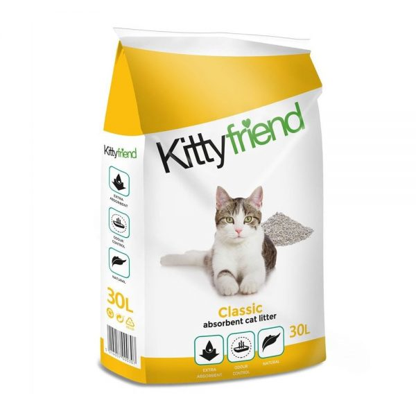 Kitty Friend Classic non clumping cat litter bag shot