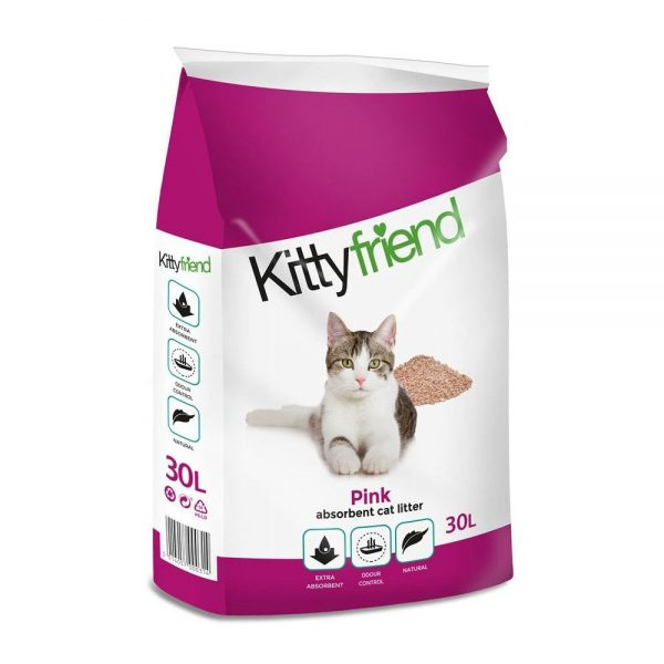 Kitty Friend Pink Non-Clumping Cat Litter Product Shot