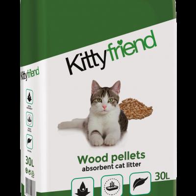 Kitty Friend Wood Pellet Cat Litter Product Image