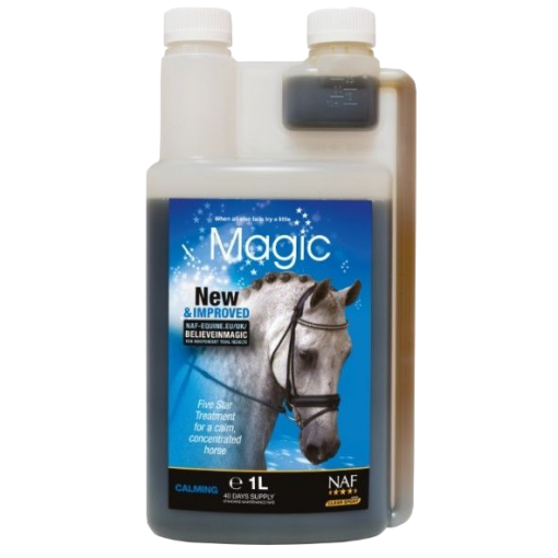 NAF Liquid Magic horse calmer, relaxer and soother product shot